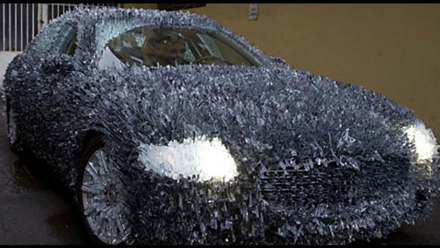 Una Maserati Quattroporte...di vetro