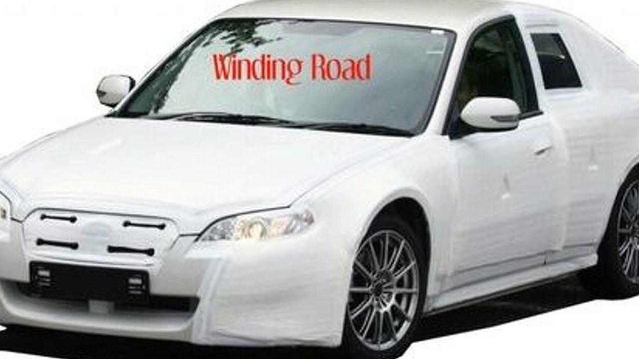 Toyota/Subaru RWD Coupe Prototype Spy Shot