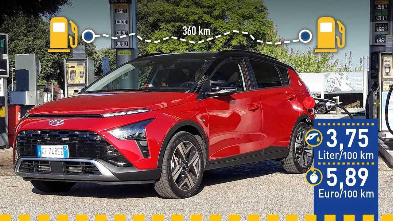 Hyundai Bayon 1.0 im Verbrauchstest