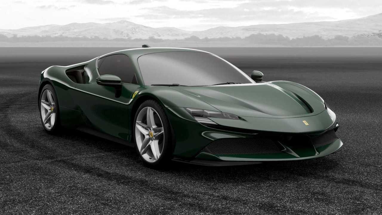 Ferrari SF90 Stradale en Verde Británico