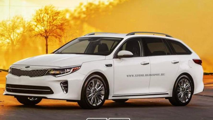 Kia Optima Wagon render shows what we won't get