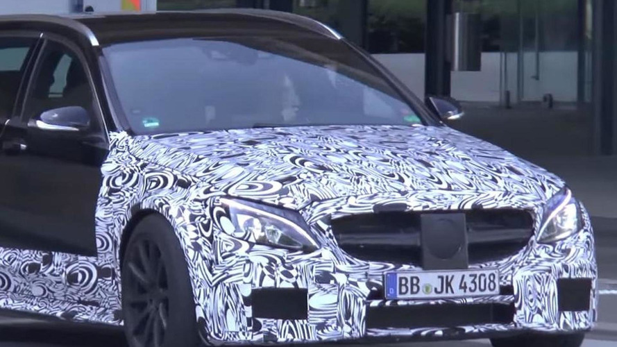 Possible Mercedes-AMG C63 Estate Black Series spied [video]