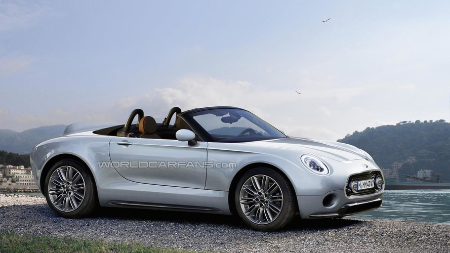 MINI Superleggera Vision concept rendered as production model