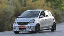 brabus tweaked smart forfour spied with light camo in southern europe