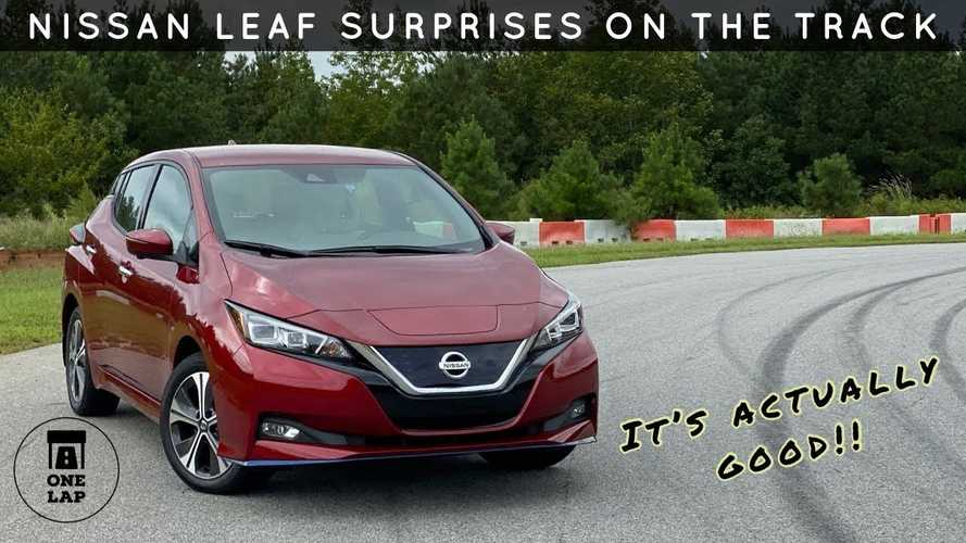Nissan LEAF SL Plus Does One Lap OG-Style