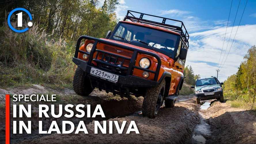 Lada Niva e UAZ Hunter, l'incredibile prova off road nella cava russa
