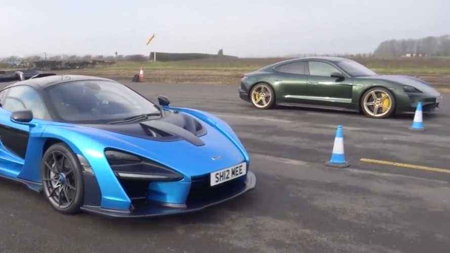 Porsche Taycan Turbo S vs McLaren Senna: Three drag races, one winner