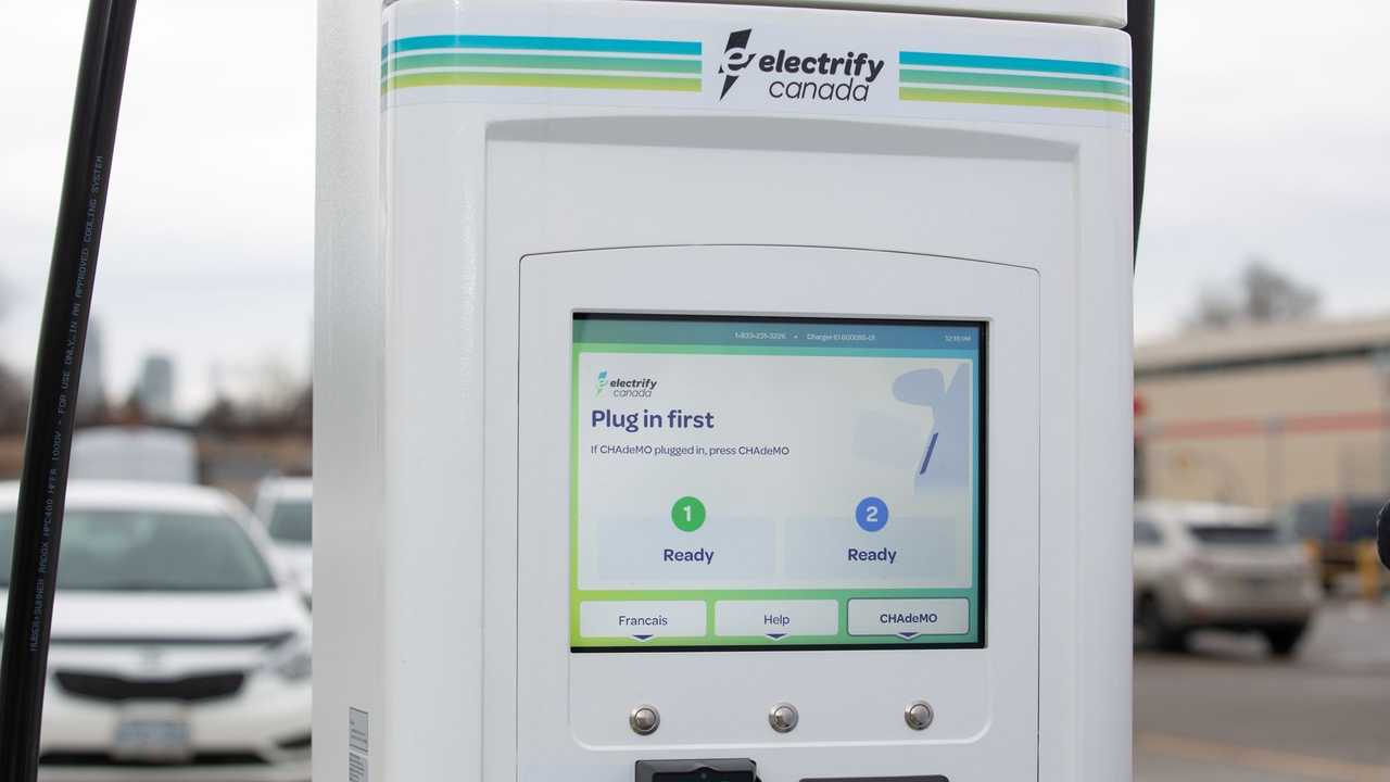 Electrify Canada charging station