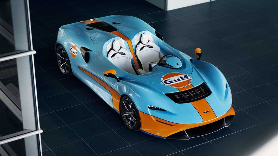 Une superbe McLaren Elva Gulf Theme By MSO au Goodwood SpeedWeek