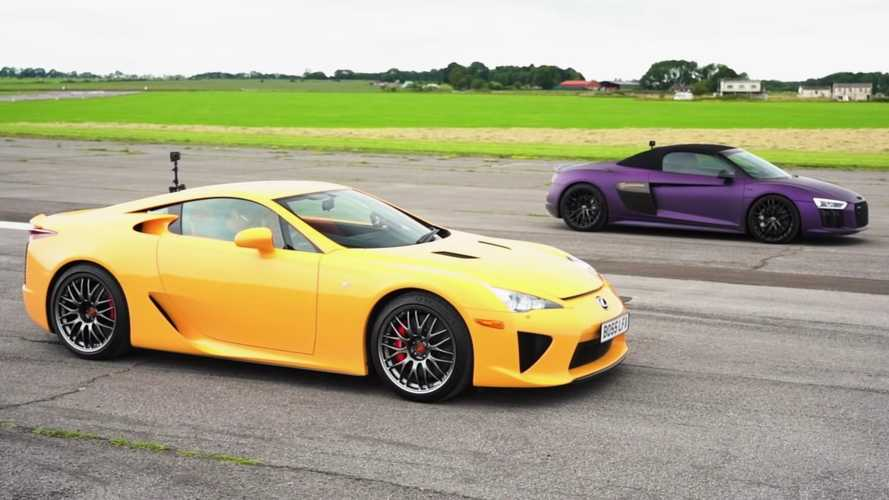 Lexus LFA Drag Races Audi R8 For Naturally Aspirated V10 Glory