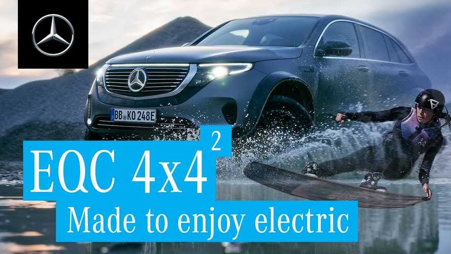 Mercedes-Benz EQC 4x4² Is Apparently Ideal For Pulling Along A Wakeboarder