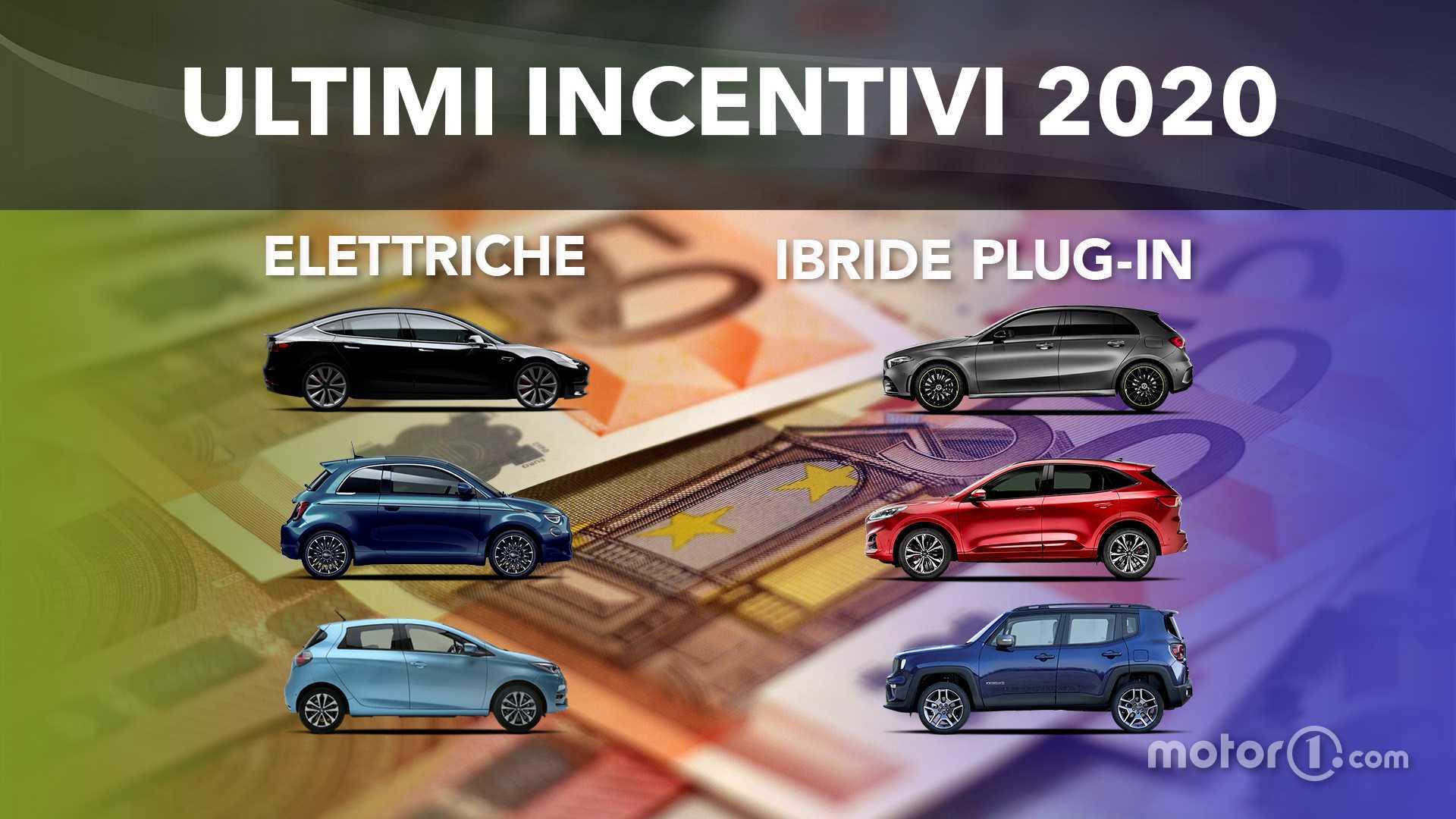 Ultimi incentivi auto 2020, i prezzi scontati di elettriche e plug-in