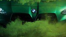 BMW M3 und M4 (2021) sehr grün und rauchig angeteasert