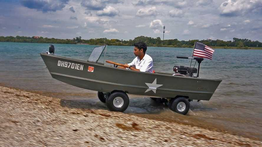 Brilliant Barebones Homemade Amphibious Car Proves Less Is More