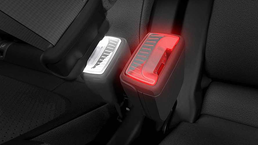 Skoda illuminated seatbelt buckle patent