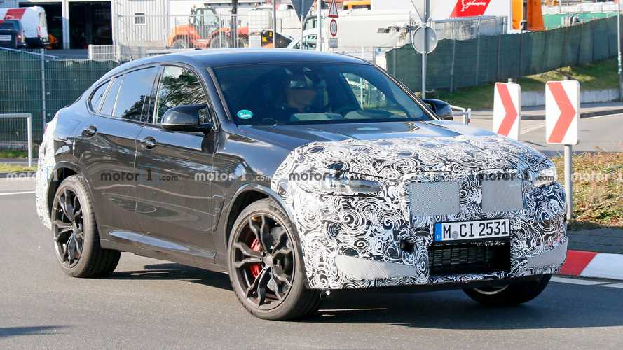 Refreshed BMW X4 M Spied Showing Thinner Headlights, Updated Nose