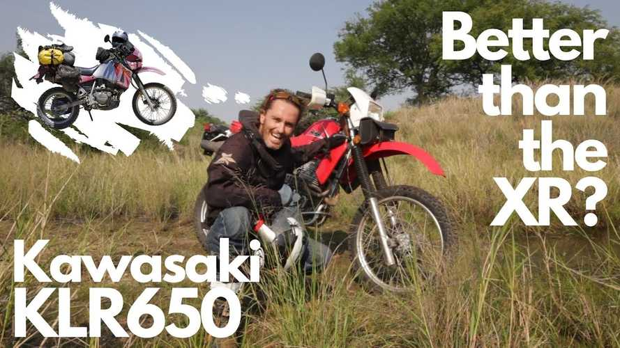 Dude Compares the Kawasaki KLR 650 And The Honda XR650L