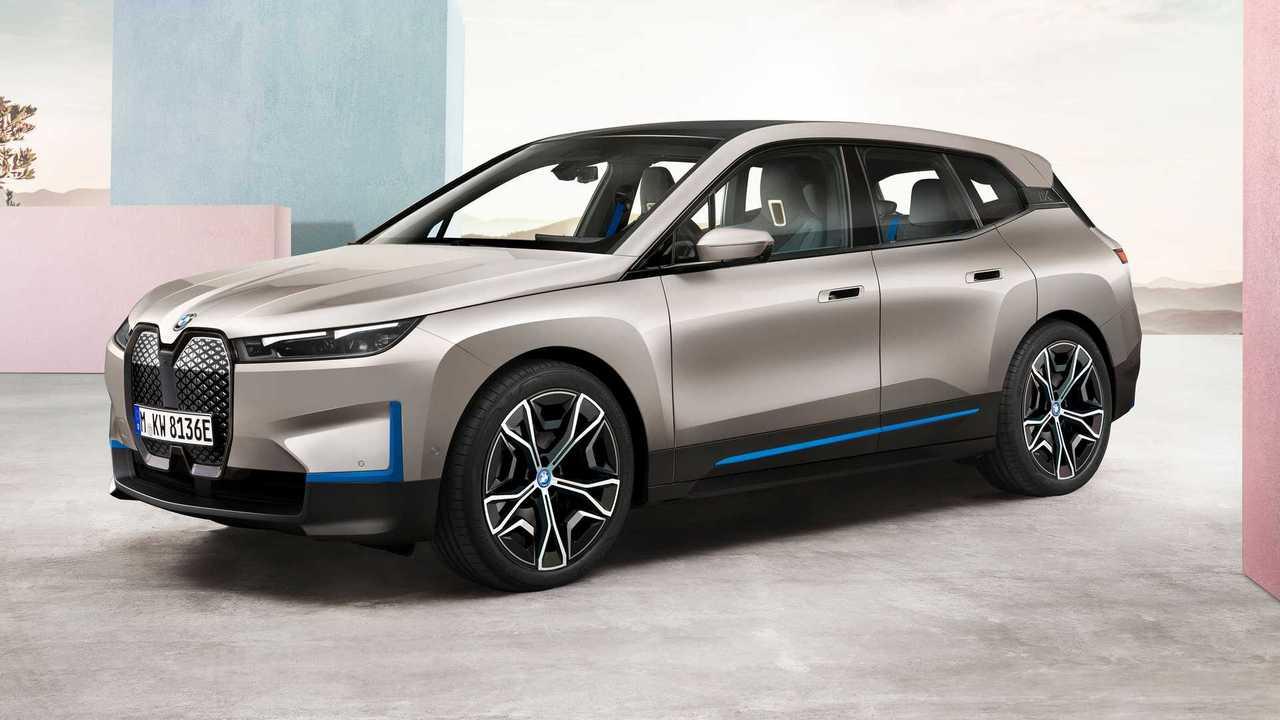 BMW ix three quarters