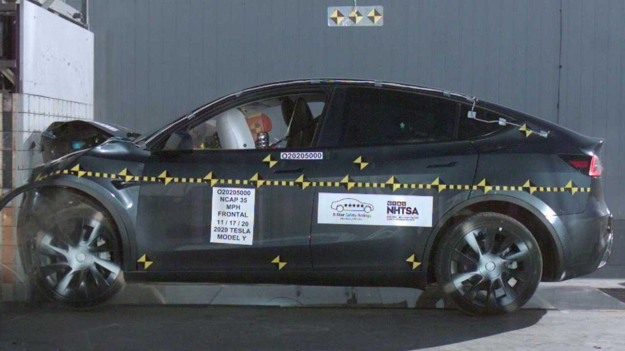 Tesla Model Y Crash Test NHTSA