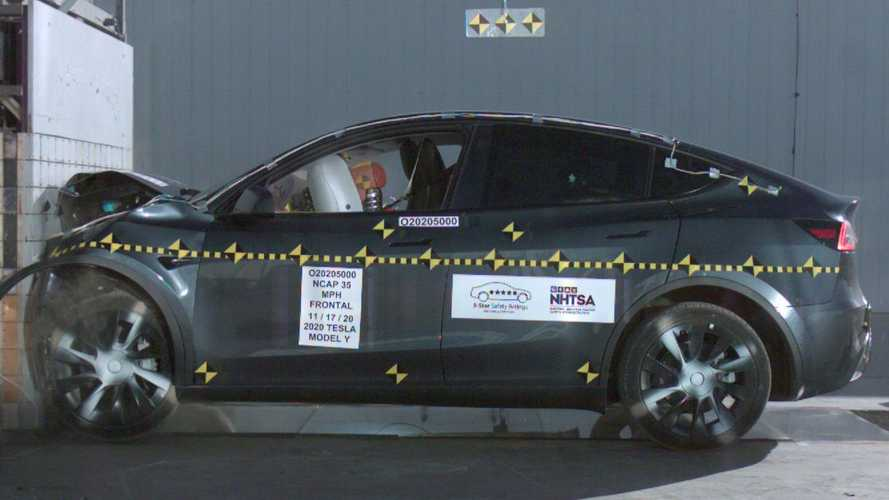Tesla Model Y NHTSA 5-Star Crash Test Results: Lowest SUV Rollover Risk Ever