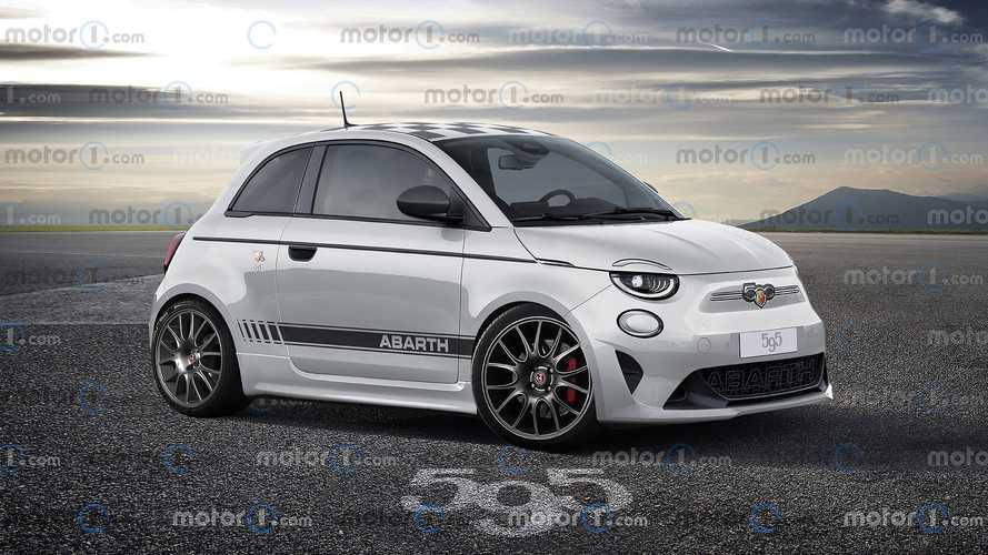 Rendering Eksklusif Abarth 595 Electric oleh Motor1.com