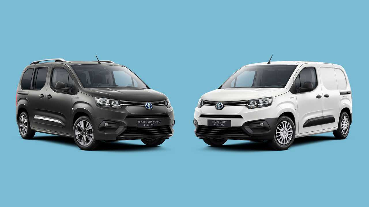 Toyota Proace City Verso Electric (left) and Toyota Proace City Electric (right)