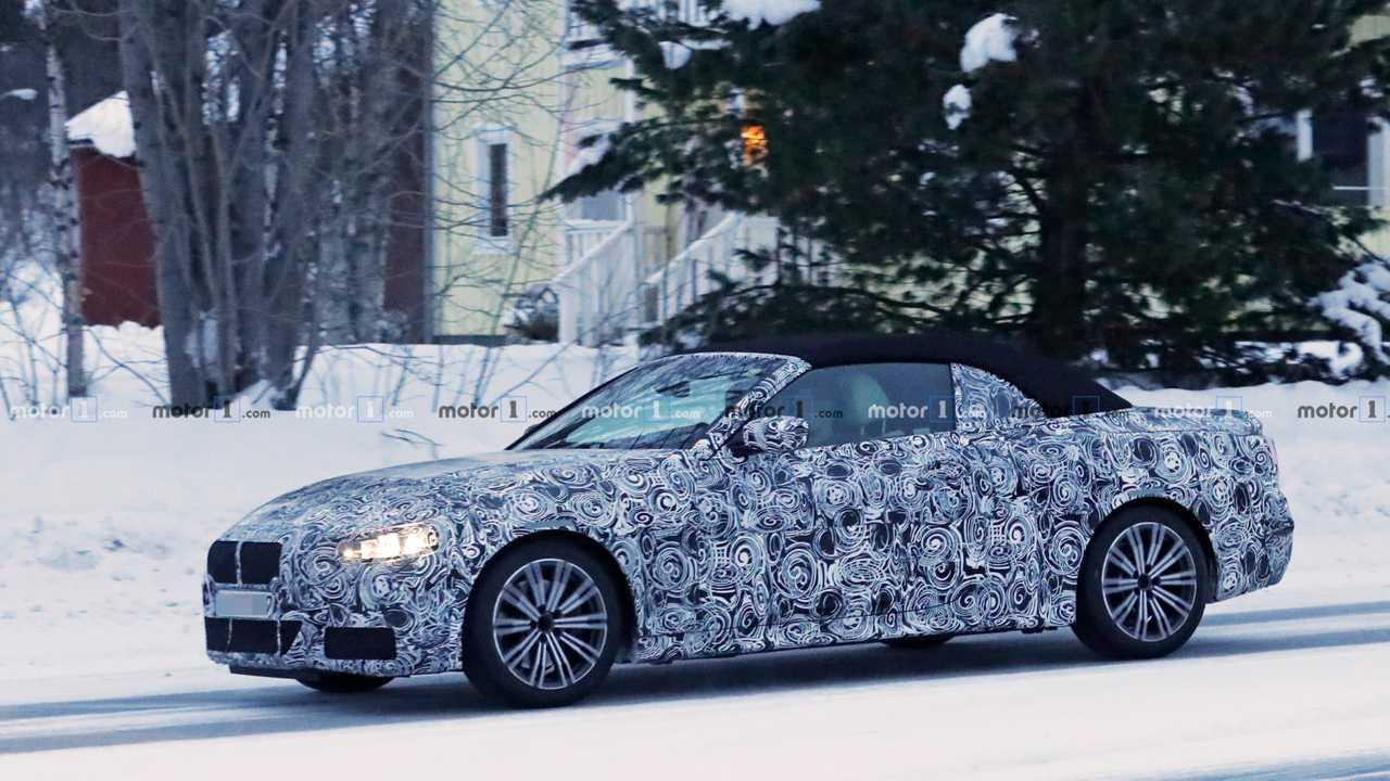 BMW 4 серии кабриолет шпион фото