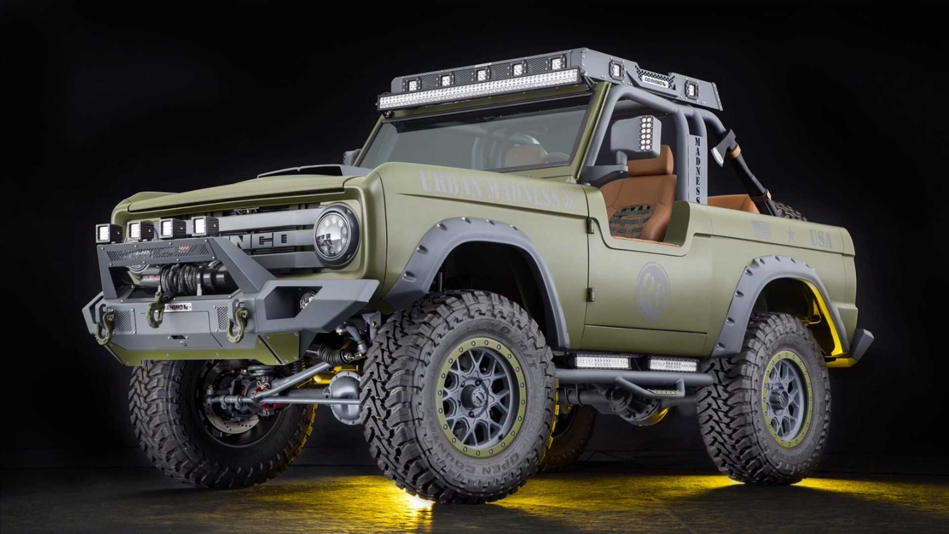 "[""1969 Ford Bronco SEMA Build Up For Grabs""]"