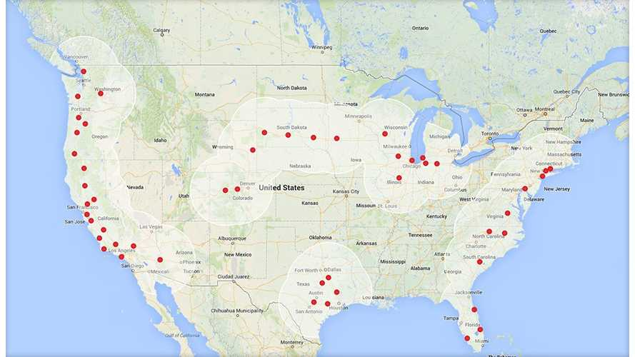 Tesla Celebrates Opening of Supercharger #50 in US