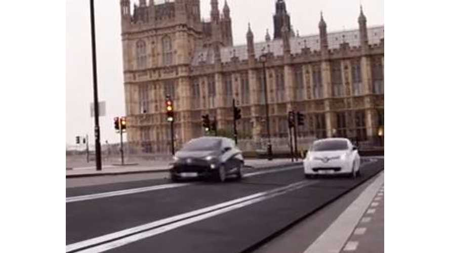 Video: Renault Puts Two ZOE EVs on Life-Size Scalextric Track in Downtown London