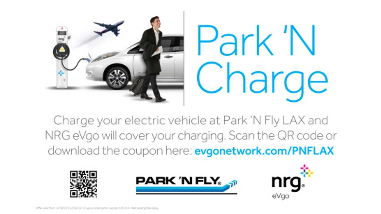 NRG eVgo Offers Free Charging at LAX Through Newly Launched Park 'N Charge Program