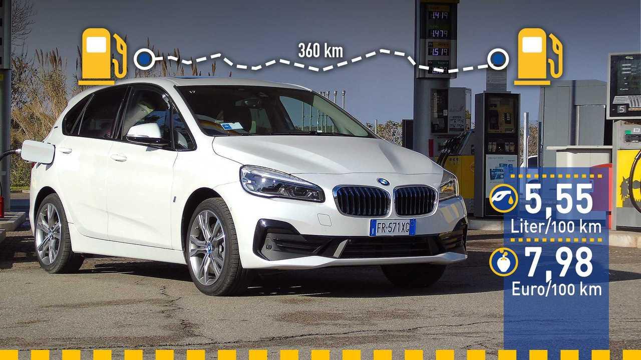 BMW 2er Active Tourer Verbrauchstest