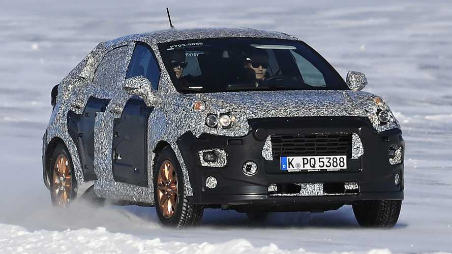 Coupe-Like Ford Fiesta Crossover Spied Under Heavy Camo