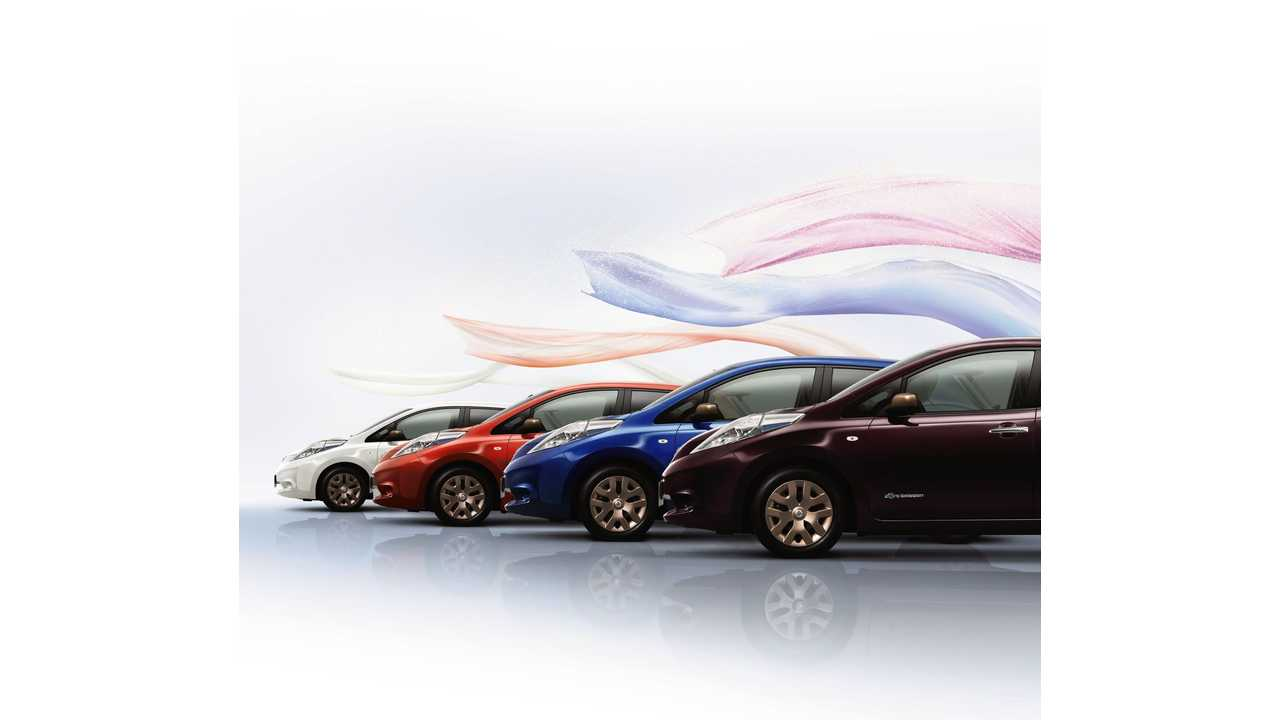 Special Color Limited Edition LEAFs to Celebrate 80th Nissan Anniversary