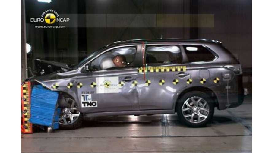Mitsubishi Outlander PHEV Scores 5 Stars in Euro NCAP Crash Tests (w/videos)