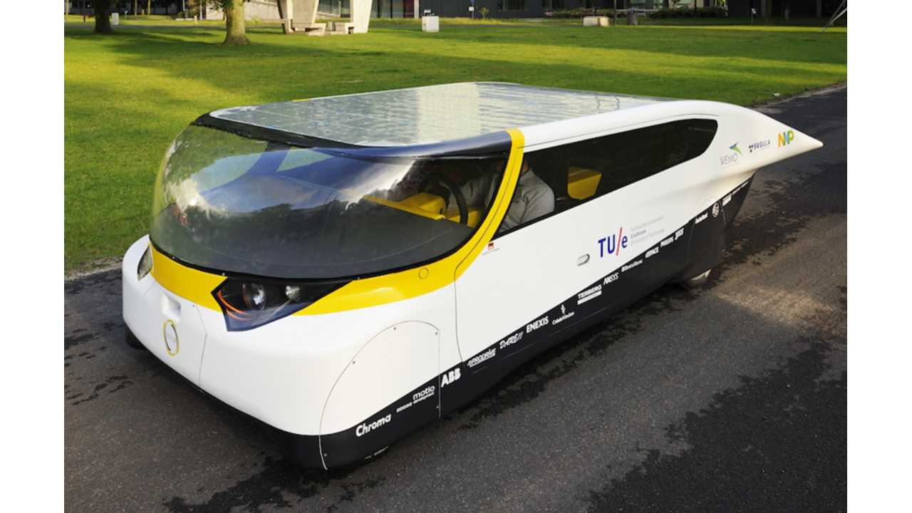 Solar-Powered Energy-Positive Vehicle Goes 544 Miles on a Single Charge