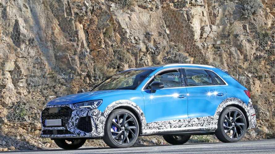 Audi RS Q3 2020: el motor de cinco cilindros ya ruge en la carretera