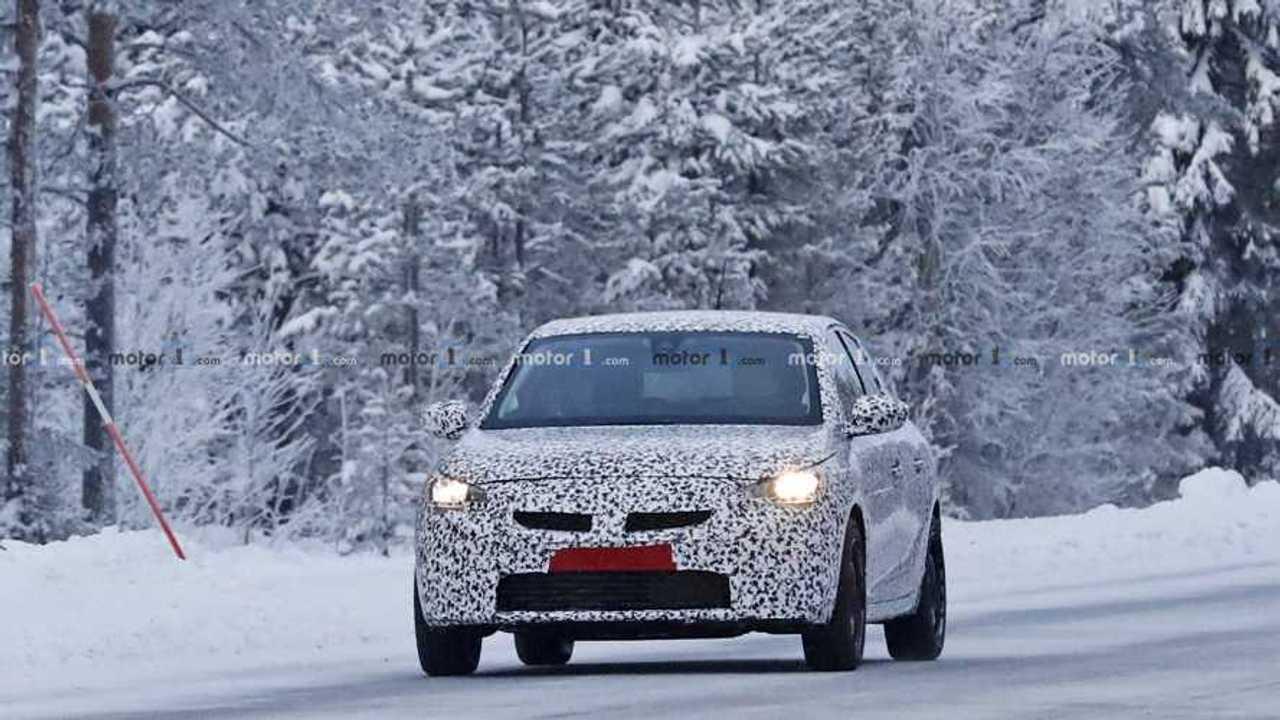 2020 Opel Corsa spy photo