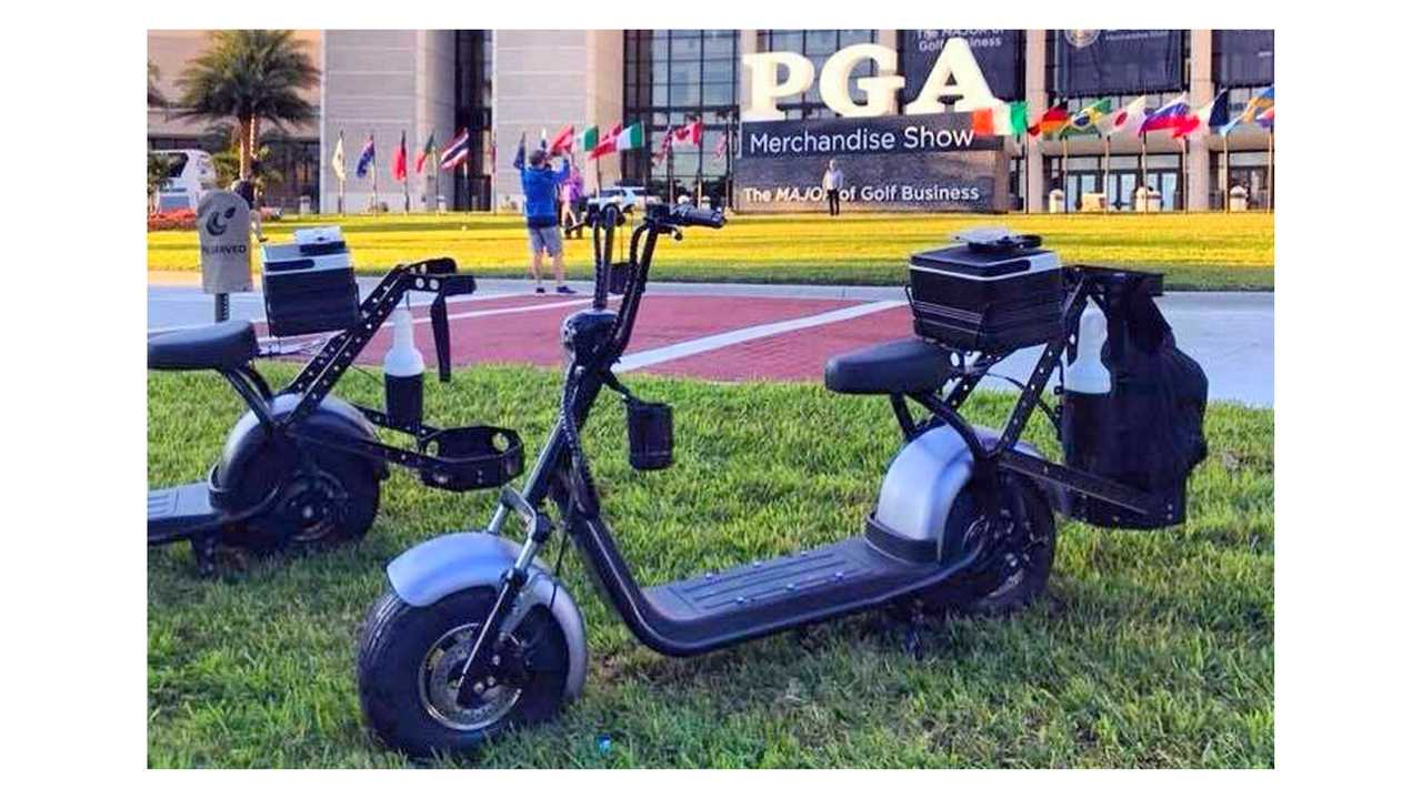 Phat golf scooter at the PGA show