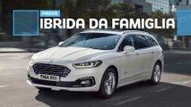 ford mondeo hybrid wagon prova su strada