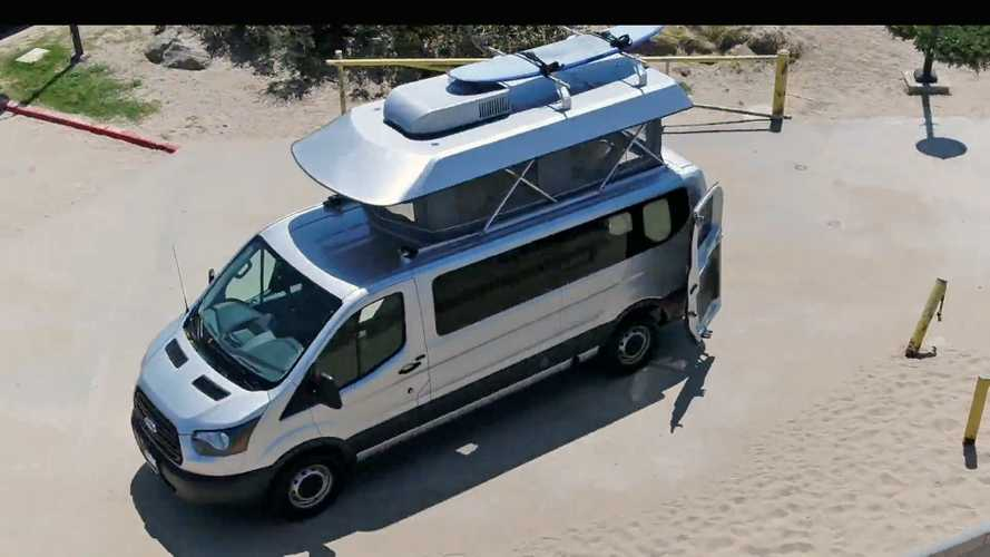 This Ford Transit is your all-in-one camper, daily driver, and work van