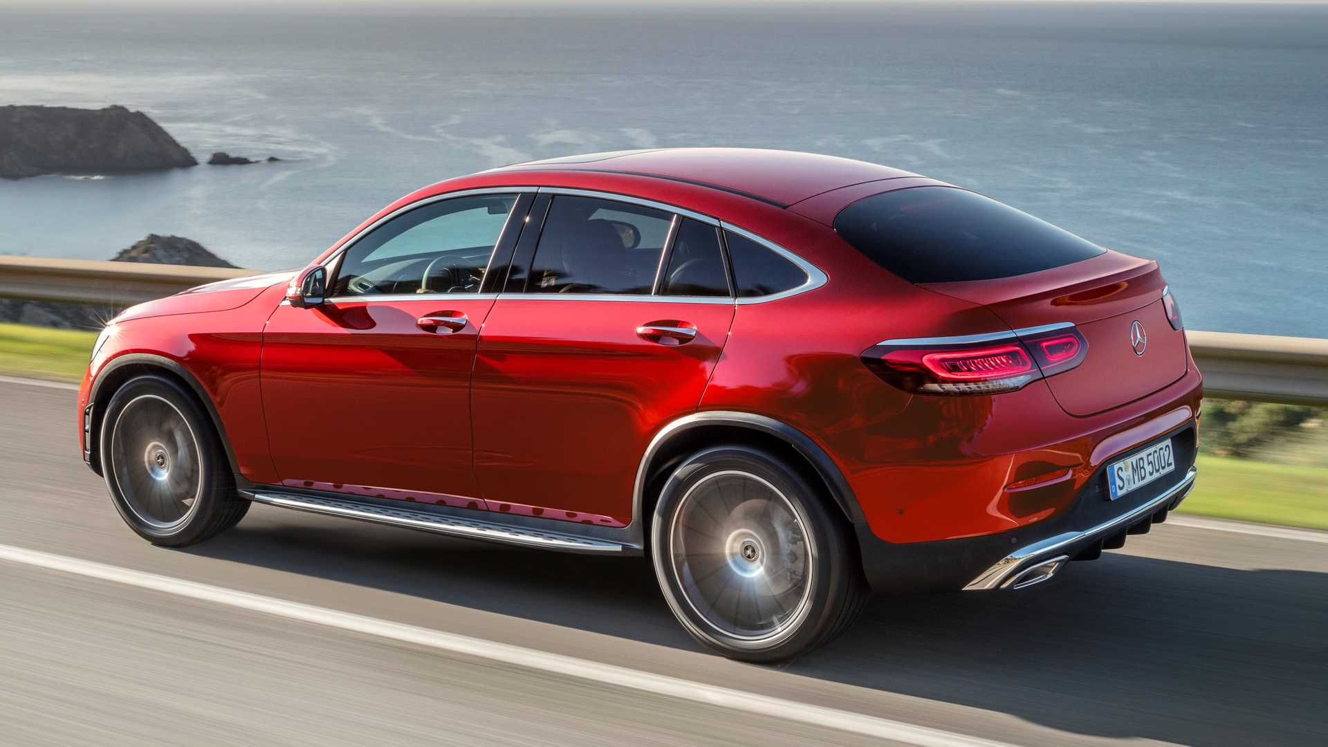 2020 Mercedes Benz Glc Coupe Gets Refreshed Face More Power Update