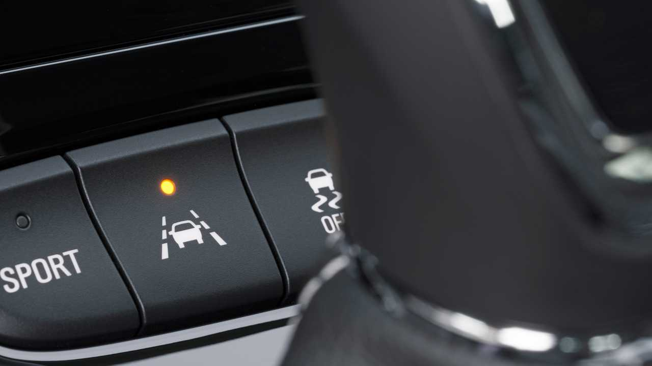 Lane Keeping Assist system button in a car