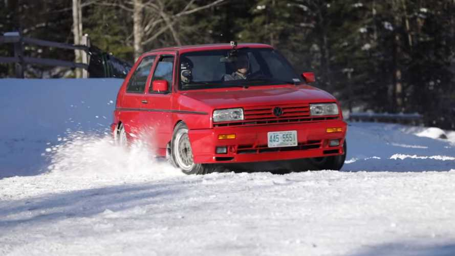 How Does The VW Rallye Golf Stack Up On Snow After 29 Years?