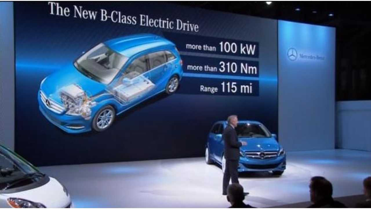 With Tesla Inside, 2014 Mercedes-Benz B-Class Electric Drive Zips From 0 to 62 MPH in 7.9 Seconds; Puts BMW i3 On the Lookout
