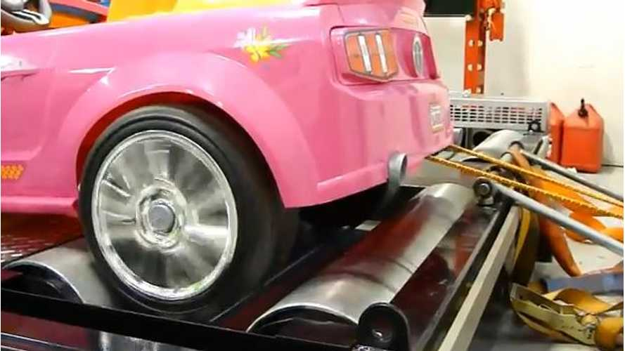 Video: Barbie Power Wheels Ford Mustang Hits Dyno; Results Will Shock You