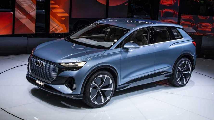 Audi Q4 E-Tron Electric CUV Sparkles In Geneva