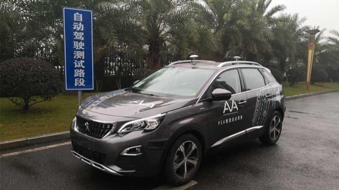 PSA voiture autonome Chine