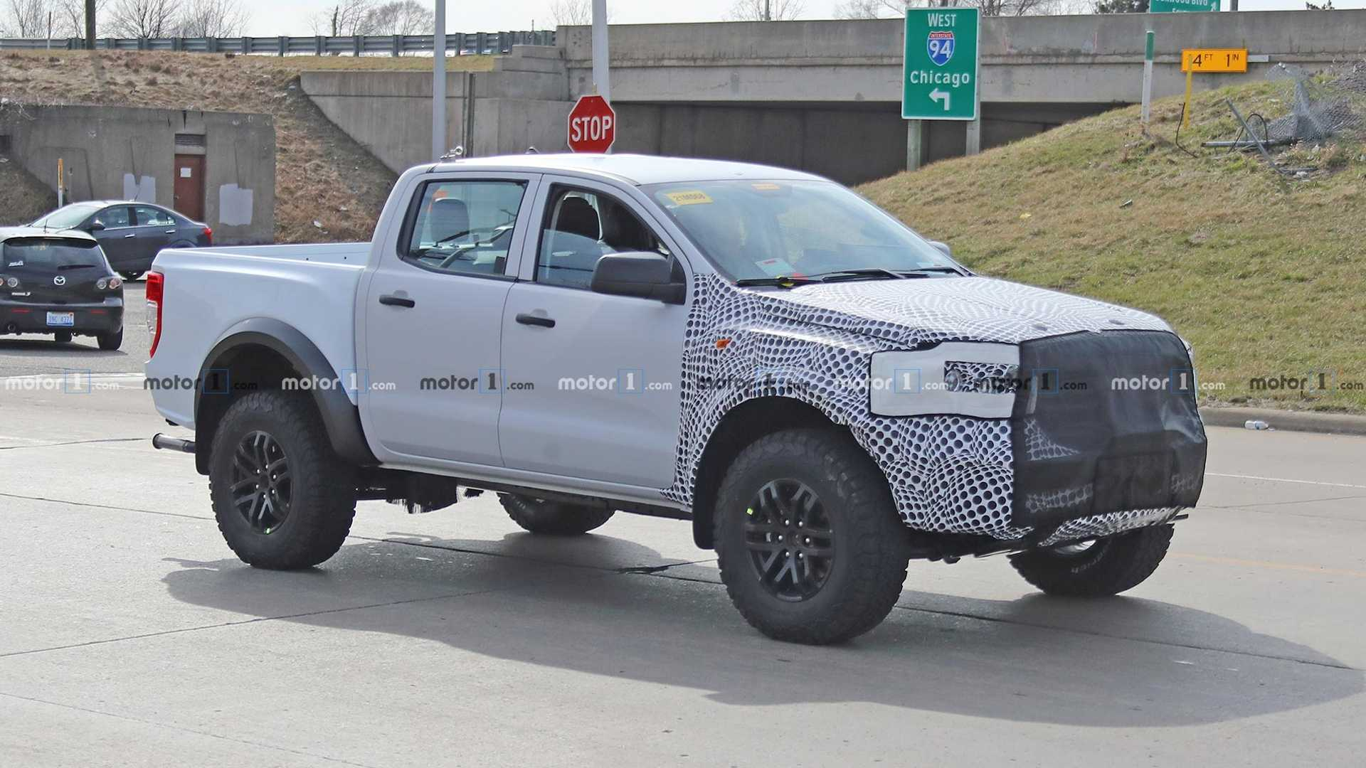 Ford Ranger Raptor Spied Trying To Hide Its Face