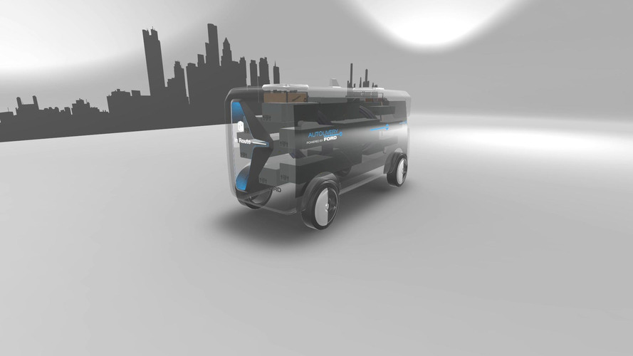 Ford's autonomous delivery van concept is loaded with drones